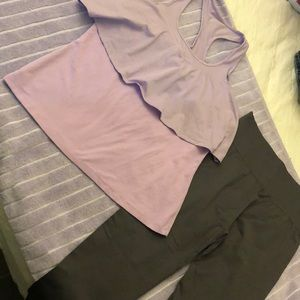 Fabletics sports bra tank and leggings
